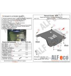Защита кислородного датчика и катализатора Renault Duster ALF1812st