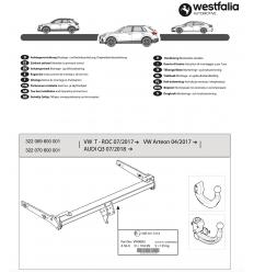 Фаркоп на Volkswagen T-ROC 322069600001