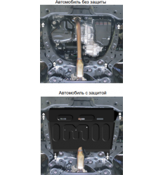 Защита картера и КПП Toyota RAV4 72504