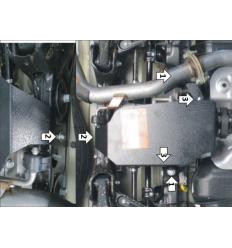 Защита заднего дифференциала Kia Sorento Prime 00943