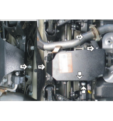 Защита заднего дифференциала Hyundai Santa Fe 00943