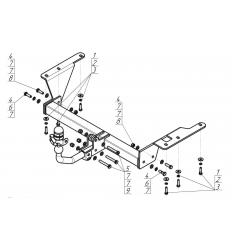 Фаркоп на Honda CR-V 90805-A