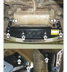 Защита заднего бампера Volkswagen Tiguan 02746
