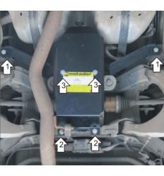 Защита заднего дифференциала Cadillac SRX 13505