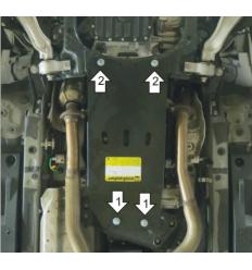 Защита КПП и РК Lexus GS 15011