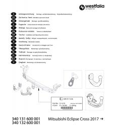 Фаркоп на Mitsubishi Eclipse Cross 340131600001