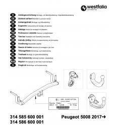 Фаркоп на Peugeot 5008 314585600001