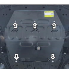 Защита картера и КПП Hyundai Sonata 71013