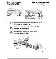 Штатная электрика к фаркопу на Volkswagen Caravelle/Multivan/Transporter 12270574