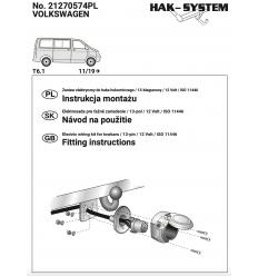 Штатная электрика к фаркопу на Volkswagen Caravelle/Multivan/Transporter 21270574
