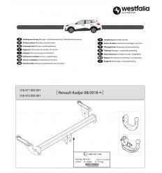 Фаркоп на Renault Kadjar 316471600001