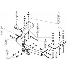 Фаркоп на Great Wall Hover H5 93102-FE