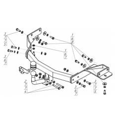 Фаркоп на Hyundai Santa Fe 91008-A