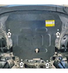 Защита картера и КПП Hyundai Elantra 70915