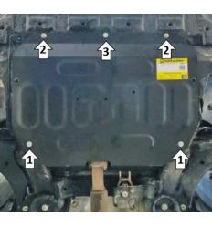 Защита картера и КПП JAC J7 78301