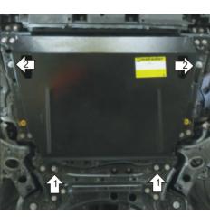 Защита картера и КПП Lexus NX 05007