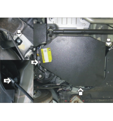 Защита топливного бака Hyundai Santa Fe 00942