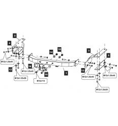 Фаркоп на Toyota Highlander 24255408E