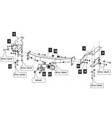 Фаркоп на Toyota Highlander 24255308E