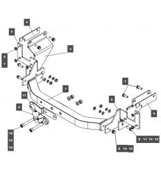 Фаркоп на Opel Vivaro 079123