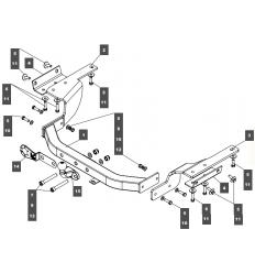 Фаркоп на Toyota Highlander 249468