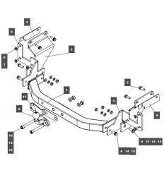 Фаркоп на Opel Vivaro 079124