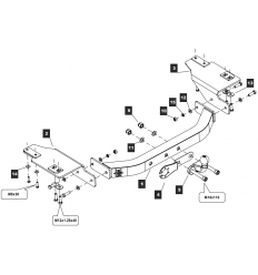 Фаркоп на Toyota Land Cruiser Prado 120/150 Y13E2