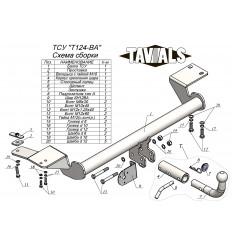 Фаркоп на Toyota Camry T124-BA