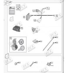 Штатная электрика к фаркопу на Nissan X-Trail, Qashqai NI115BH