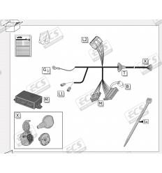 Штатная электрика к фаркопу на Toyota RAV 4 TO295BH