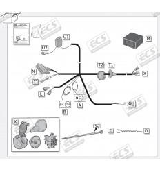 Штатная электрика к фаркопу на BMW X5, X6, X7 BW031B1