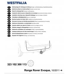 Штатная электрика к фаркопу на Range Rover Evoque 323102300113