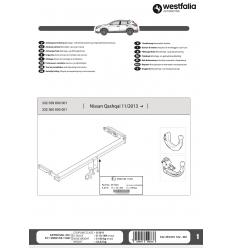 Фаркоп на Nissan Qashqai 332360600001