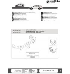 Фаркоп на Hyundai Santa Fe 345143600001