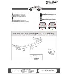 Фаркоп на Land Rover Discovery Sport 323192600001