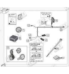 Штатная электрика к фаркопу на Seat Arona, Ateca, Cupra, Ibiza, Leon, Tarraco, X-perience VW146B1