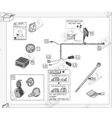 Штатная электрика к фаркопу на Volkswagen Arteon, Golf, Passat, Polo, Tiguan, Touran, T-Cross, T-Roc VW146B1