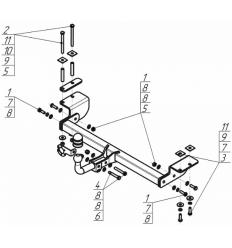Фаркоп на Lifan X70 94702-A