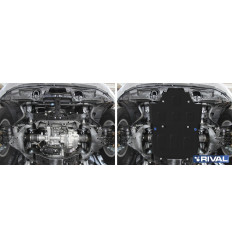 Защита картера и радиатора Toyota Land Cruiser 300 111.9551.1