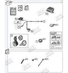 Штатная электрика к фаркопу на Audi Q5 AU035B1