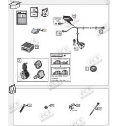 Штатная электрика к фаркопу на Audi Q3 AU040B1