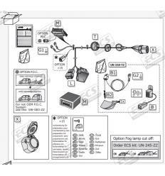 Штатная электрика к фаркопу на Audi Q7 AU062HX