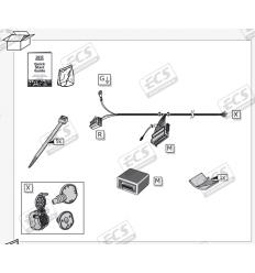 Штатная электрика к фаркопу на Mercedes-Benz GLC/GLC Coupe MB082B1
