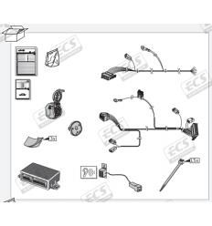Штатная электрика к фаркопу на Volvo XC90 VL010BL