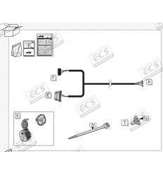 Штатная электрика к фаркопу на Volkswagen Transporter VW165B1