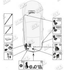 Штатная электрика к фаркопу на BMW X3 BW008B1