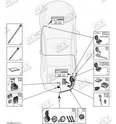 Штатная электрика к фаркопу на BMW X5 BW008B1
