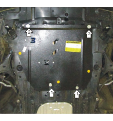 Защита картера, КПП и масляного фильтра Honda Civic 00832