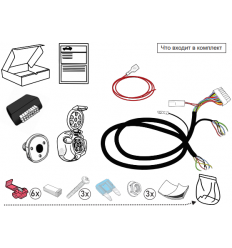 Штатная электрика к фаркопу на Renault Duster KA SC 71 105 012OB1