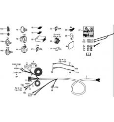 Штатная электрика к фаркопу на BMW 1/2/3/4/5/X3/X4 303352300107